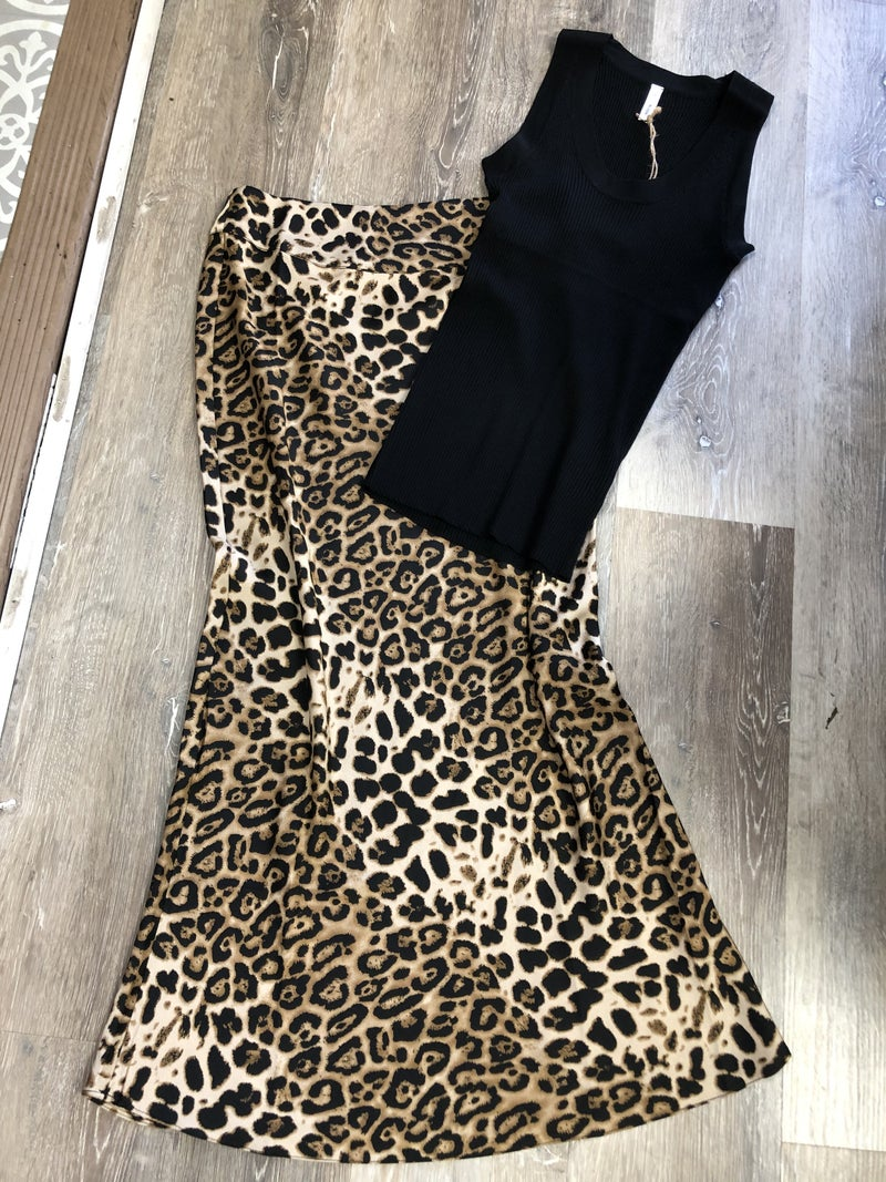 High Waisted Cheetah Skirt