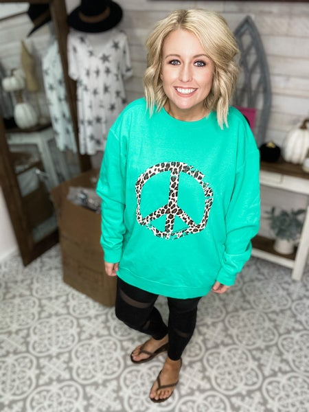 Peace Love & Leopard Sweatshirt
