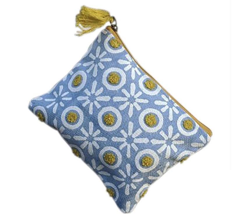 Blue Yellow XOs Medium Pouch