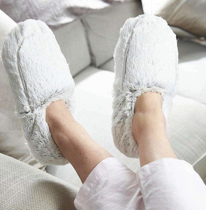 Marshmallow Gray Warmies Slippers