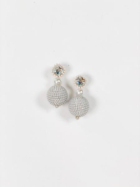 The Sara Earrings White