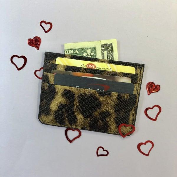 Leopard Card Holder
