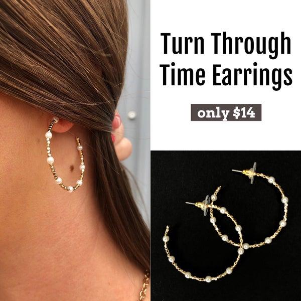 Turn Through Time Earrings
