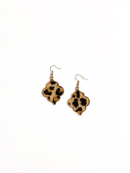 The Pattie Earrings Leopard