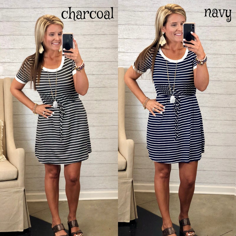 Stripe Away Dress FINAL SALE *Final Sale*