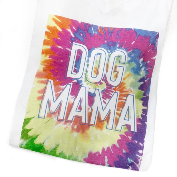 Tie Dye Dog Mama Tee
