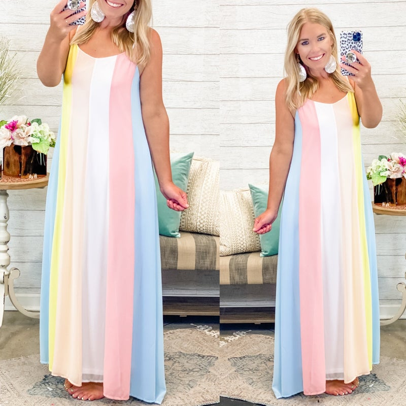Message In The Sand Maxi Dress