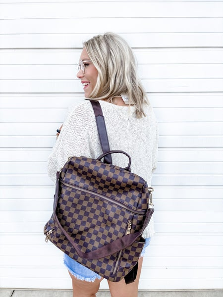Ready Set Go Backpack Brown