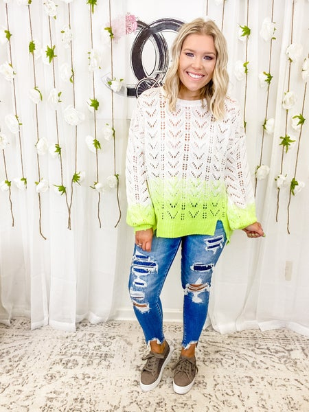 Out Of Love Sweater Neon