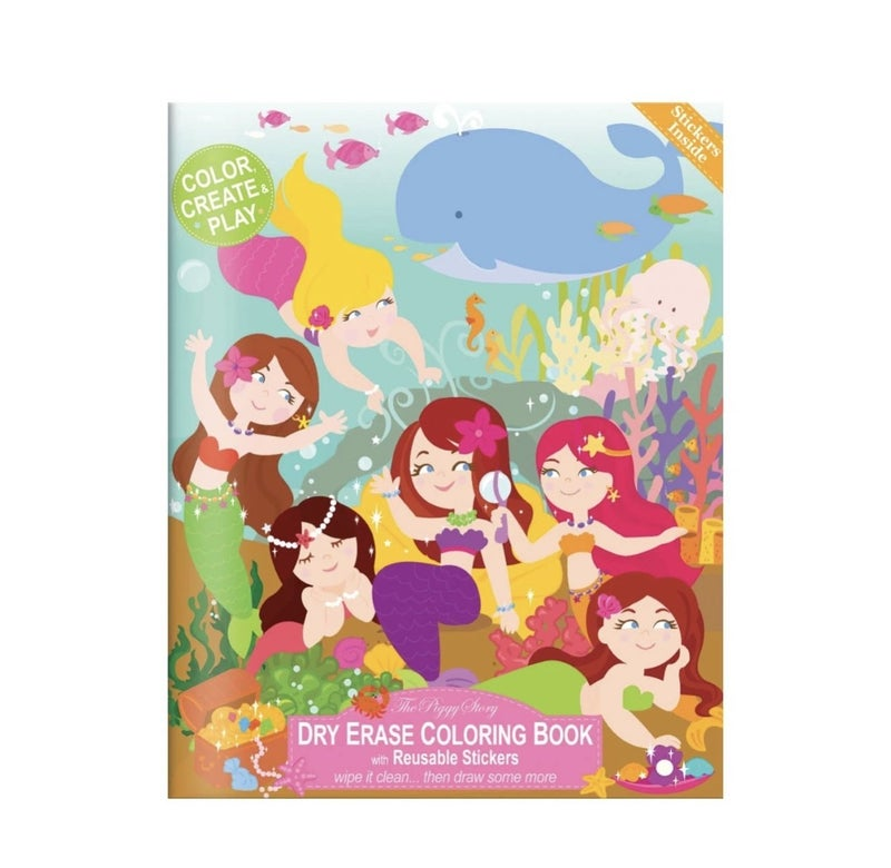 Magical Mermaids Dry Erase Coloring Book