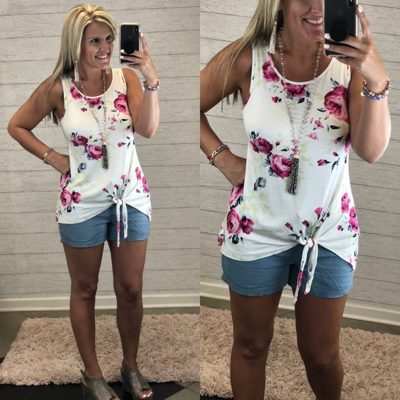 Without Trying Floral Tank