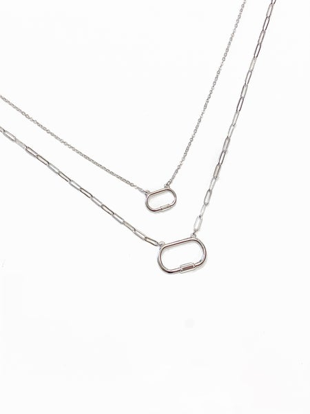 The Crystal Necklace Silver