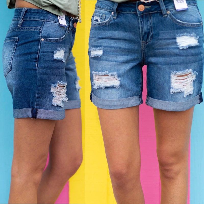 Tristen Distressed Denim Shorts *Final Sale*