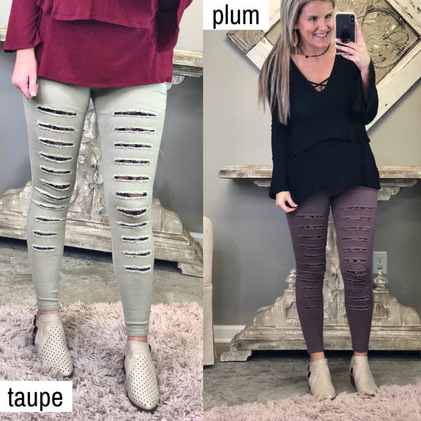 All Eyes On You Jeggings-FINAL SALE