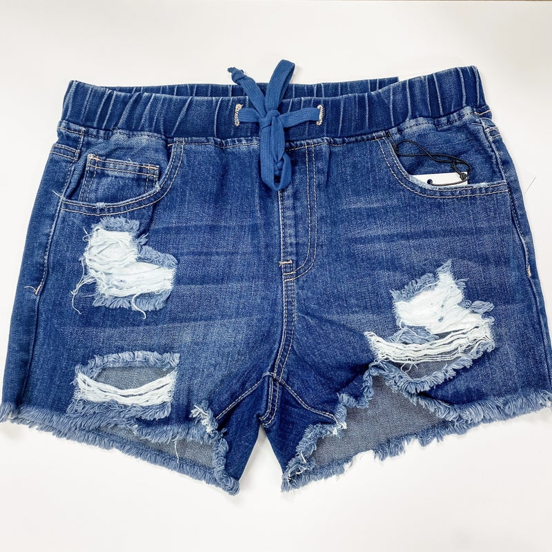 Move On Over Shorts Dark Wash
