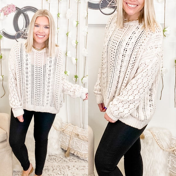 Always On Edge Sweater Oatmeal