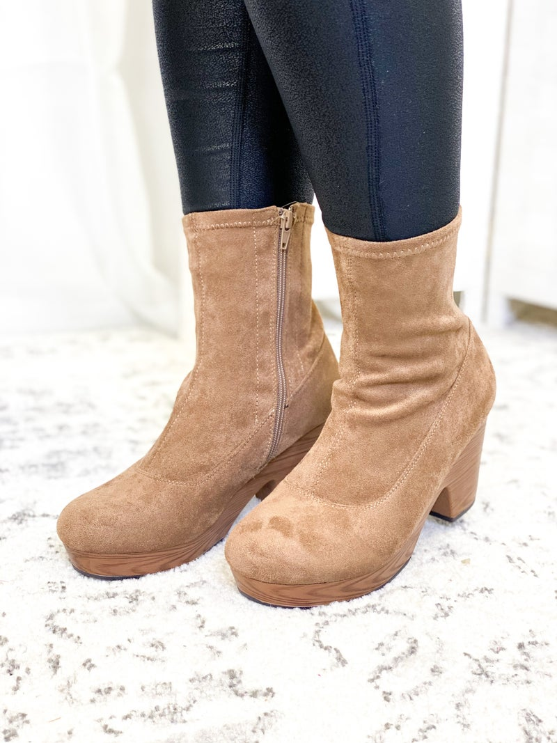 The Mia Bootie Taupe