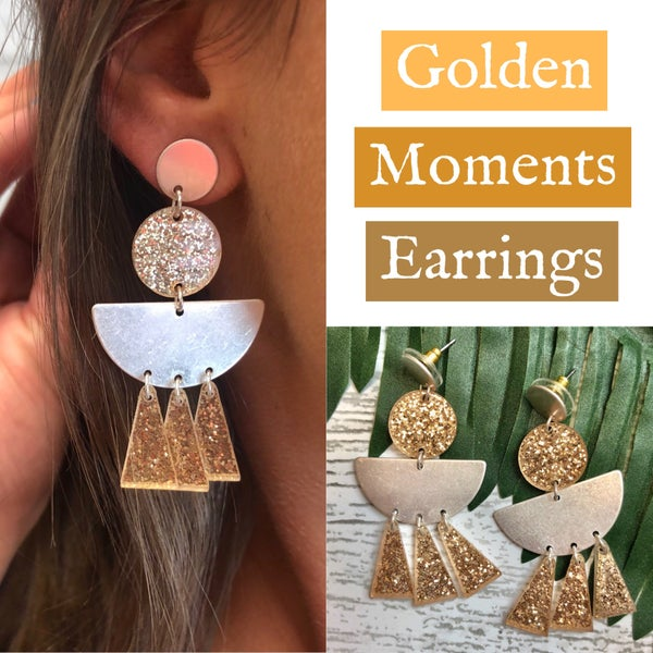 Golden Moments Earrings