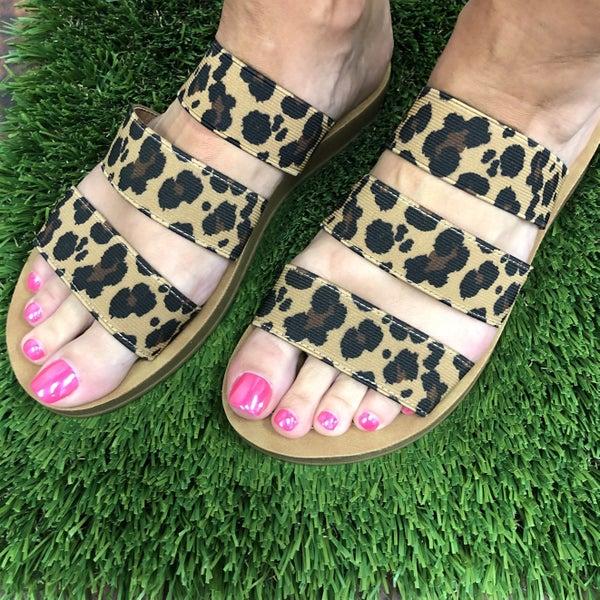 Always On My Mind Sandals Leopard