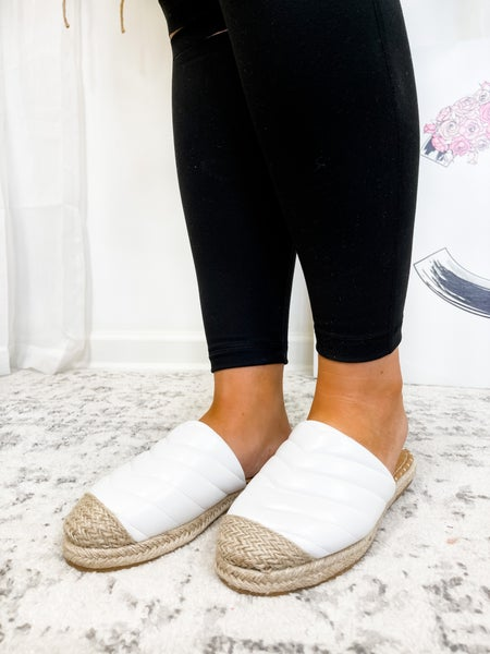 The Abby Sandals White
