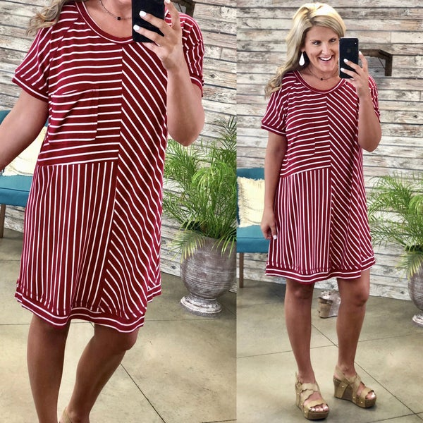Meant To Be Striped Dress