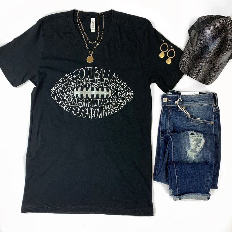 Football Words Graphic Tee *Final Sale*
