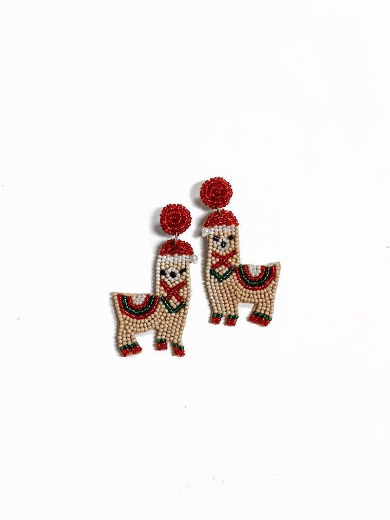 Christmas Llama Earrings