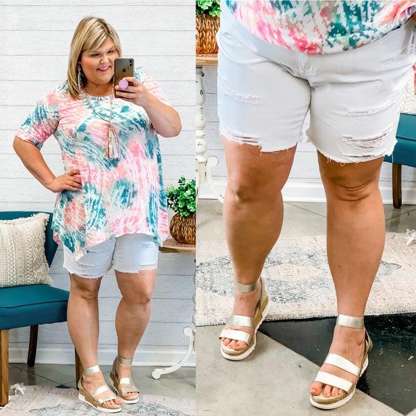 The Farley Shorts Plus White