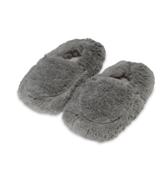 Warmies Plush Slippers Gray