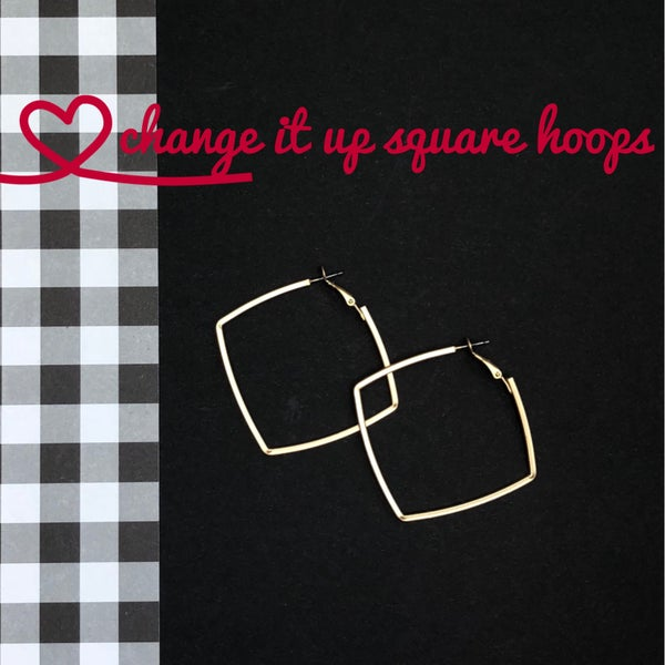 Change It Up Square Hoops