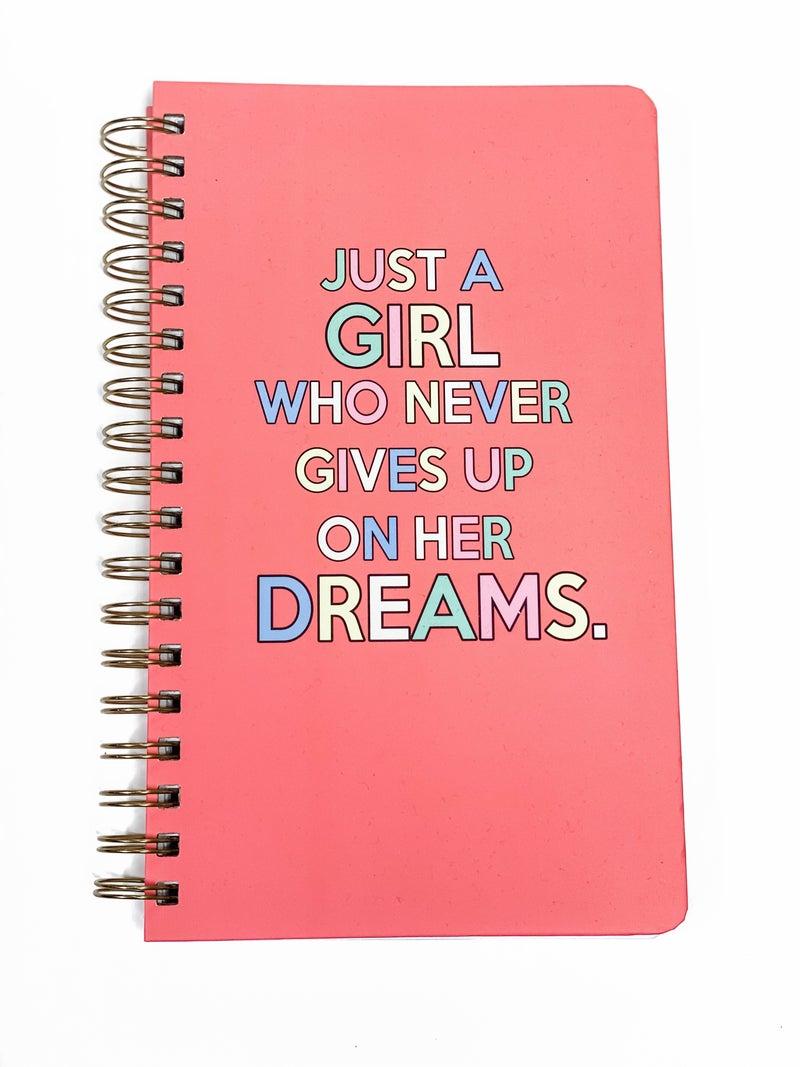 Just A Girl Spiral Notebook