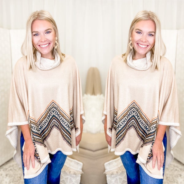 Chilly Nights Poncho Top