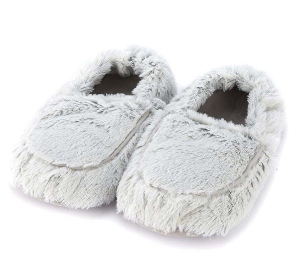 Marshmallow Gray Warmies Slippers
