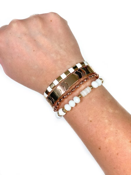 The Adeline Bracelet Stack Rose Gold