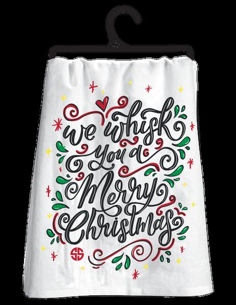 Whisk You A Merry Christmas Tea Towel