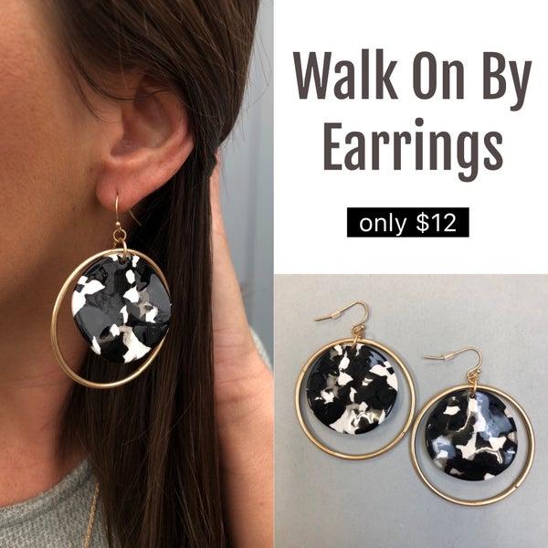 Walk On By Earrings FINAL SALE