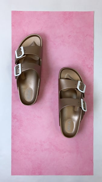 Watch Your Step Sandals Rose Gold FINAL SALE