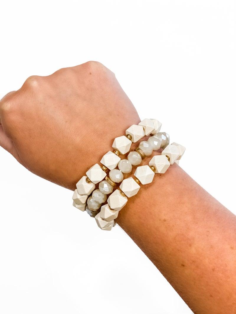 The Julie Bracelet Stack Natural