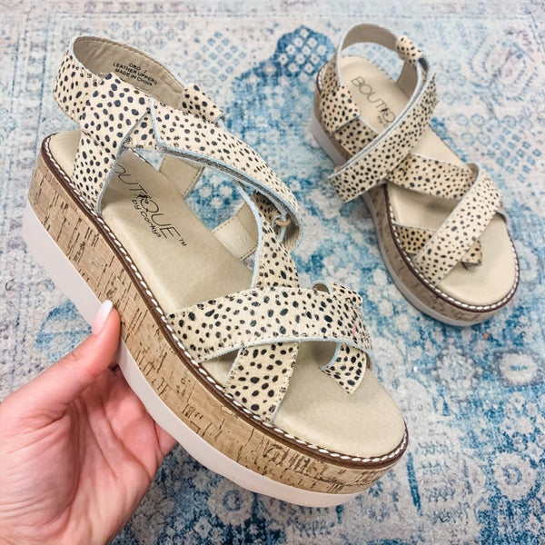 The Stacey Wedge Speckled *Final Sale*