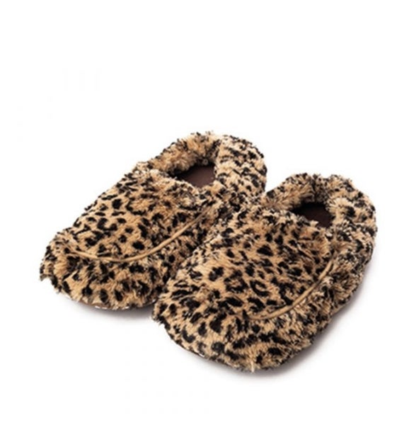 Warmies Plush Slippers Leopard