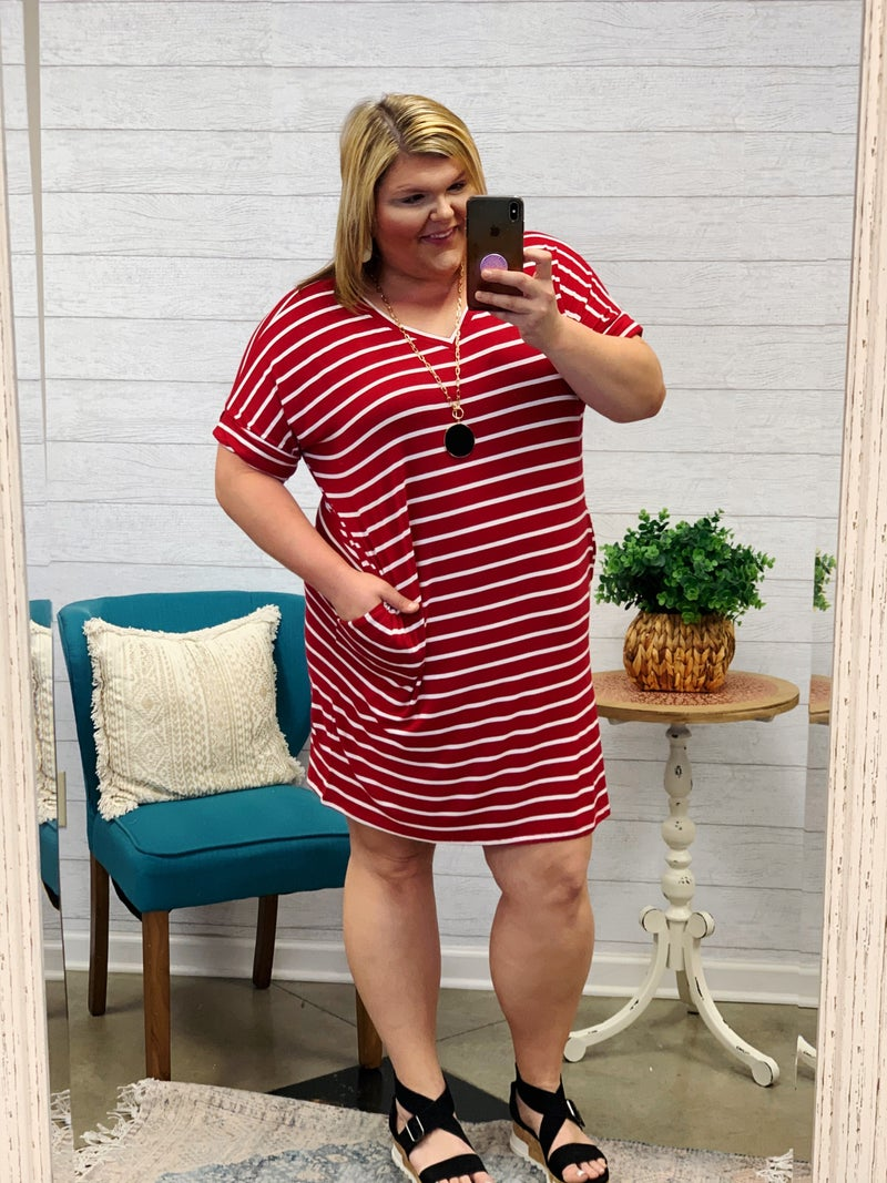 Here For Now Dress Plus *Final Sale*