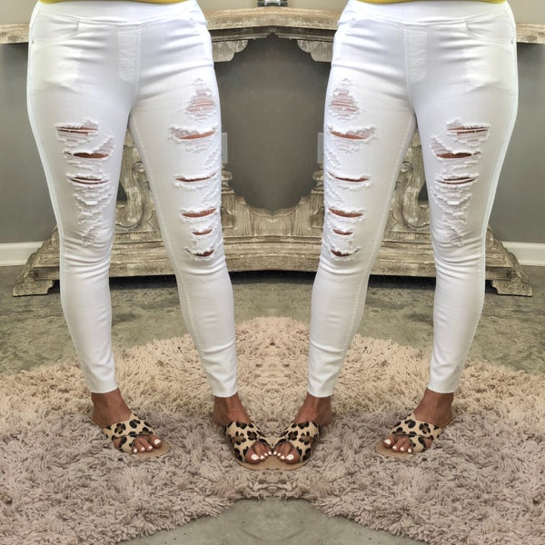Ahead Of Me White Jeggings