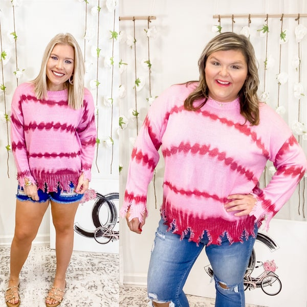 Lost Through The Day Sweater Pink