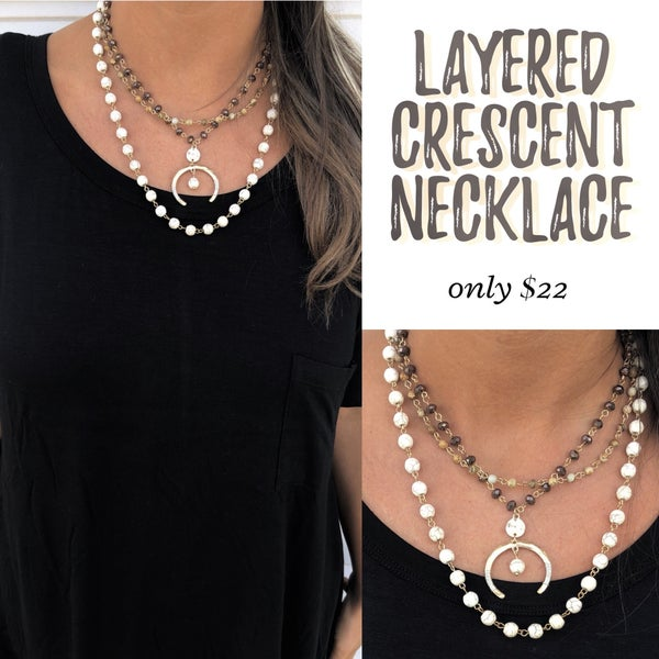 Layered Crescent Necklace