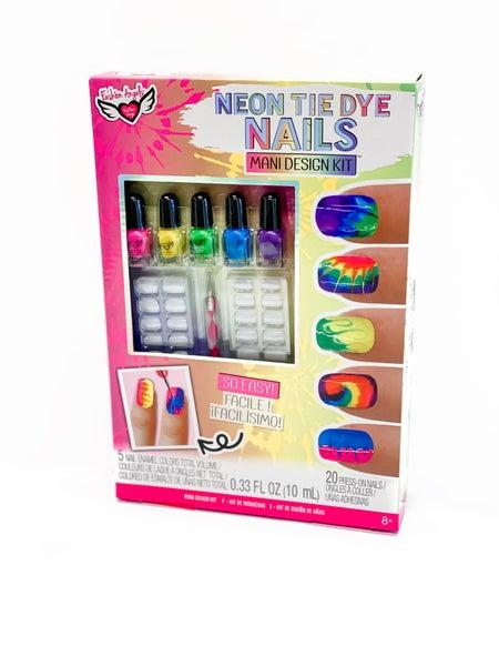 Neon Tie Dye Nails