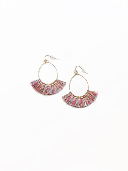 The Sophie Earrings Fuchsia