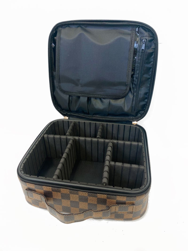 On The Go Train Case Brown *Final Sale*