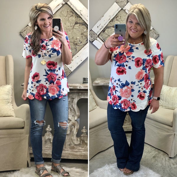 The Best Chance Floral Top FINAL SALE