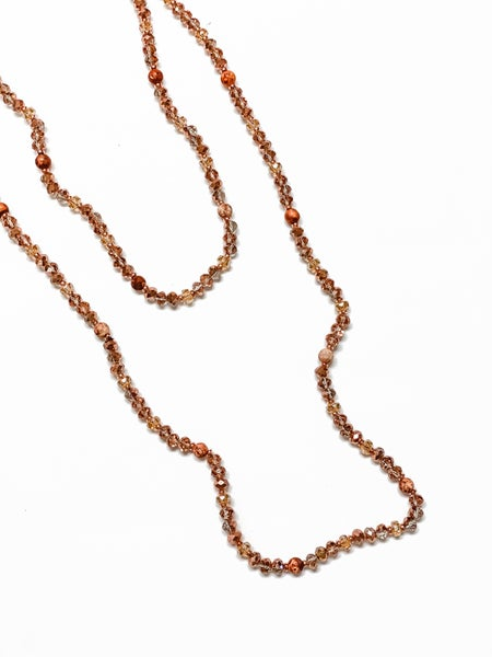 The Rosie Wrap Necklace Rose Gold