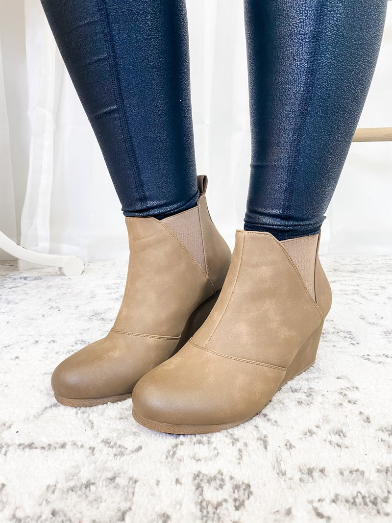 The Laurie Bootie Taupe